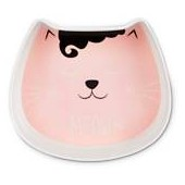 Harmony Pink Kitty Face Melamine Cat Dish