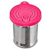 Bowlmates Can Lids in Pink and Navy Blue