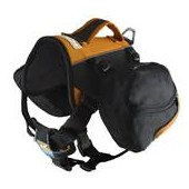 Kurgo Big Baxter Dog Backpack In Black/Orange