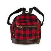 Bond & Co. Brushed Buffalo Check Flannel Dog Backpack