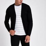Black V neck button-up cardigan