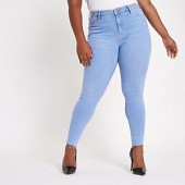 Plus light blue wash Molly mid rise jeggings