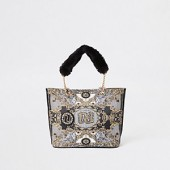 RI 30 girls black shopper bag