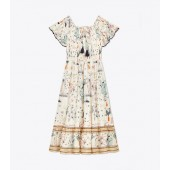 PRINTED SMOCKED DRESS
