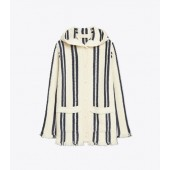 STRIPED SWEATERCOAT