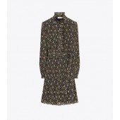 PRINTED DENEUVE DRESS