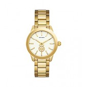COLLINS WATCH, GOLD-TONE STAINLESS STEEL/IVORY, 38MM