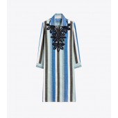 Embroidered Cotton Jacquard Dress