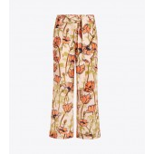 Printed Silk Cargo Pant