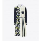 Silk Patchwork Dress