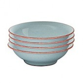Denby Heritage Terrace Shallow Bowls in Grey (Set of 4)