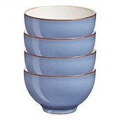 Denby Heritage Fountain Small Bowls in Blue (Set of 4)