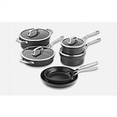 Zwilling J.A. Henckels Motion Nonstick Hard-Anodized 10-Piece Cookware Set in Grey