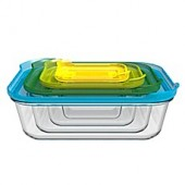 Joseph Joseph Nest 8-Piece Glass Storage Set in Multi