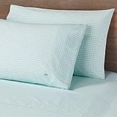 Lacoste Printed Bird Eye Cotton Percale 300-Thread-Count Pillowcases (Set of 2)