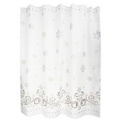 Lenox French Perle Snowflake Shower Curtain