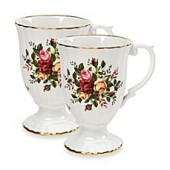 Royal Albert Old Country Roses Fluted Mugs (Set of 2)
