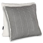 Brielle Cable Knit 18-Inch Square Pillow Cover