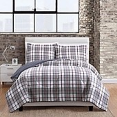Twill Plaid Comforter Set