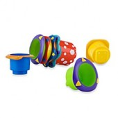 Nuby 5-Pack Splish Splash Stackable Bath Cups