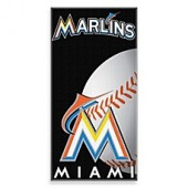 MLB Florida Marlins 30-Inch x 60-Inch Beach Towel