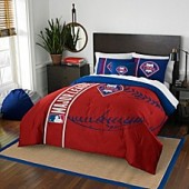 MLB Philadelphia Phillies Twin Embroidered Comforter Set