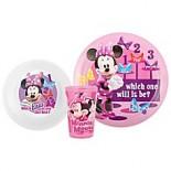Zak! Designs Disney Minnie Mouse 3-Piece Kids Dinnerware Set