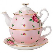 Royal Albert New Country Roses Tea Party For One in Pink
