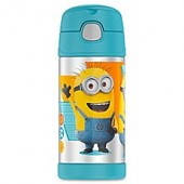 Thermos Funtainer 12 oz. Minions Beverage Bottle in Blue/Yellow