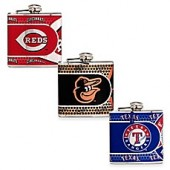 MLB Stainless Steel Metallic Hip Flask
