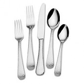 Mikasa Hammered Opulent 75-Piece Flatware Set