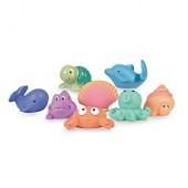 Elegant Baby 8-Pack Sea Party Bath Squirties