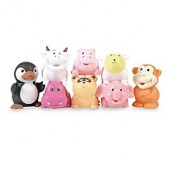 Elegant Baby 8-Pack Animal Party Bath Squirties