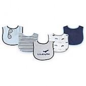 BabyVision Luvable Friends 7-Pack Plane Bib Set in Grey