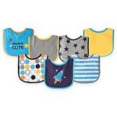 BabyVision Luvable Friends 7-Pack Applique Bib Set