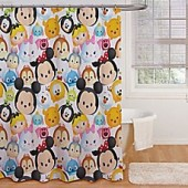 Disney Tsum Tsum Stacks on Stacks Shower Curtain