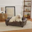 Enchanted Home Pet Brown Spencer Pet Sofa with Velvet Cushion