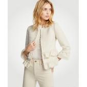 Ruffle Tweed Jacket