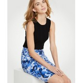 Floral Toile Pencil Skirt