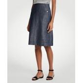 Stretch Linen Cotton Pocket Skirt
