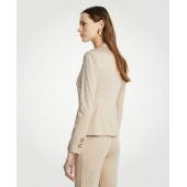 Cotton Sateen One Button Perfect Blazer