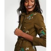 Embroidered Floral Safari Jacket