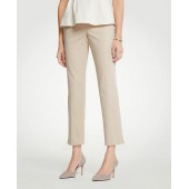The Ankle Pant In Cotton Sateen - Curvy Fit