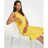 Side Ruched Flare Dress