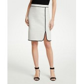 Piped Pencil Skirt