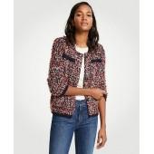 Textured Tweed Pocket Jacket