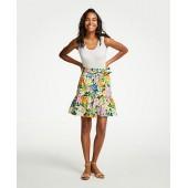 Floral Tie Waist Flounce Skirt
