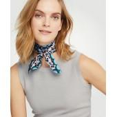 Floral Silk Skinny Scarf