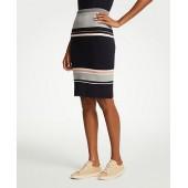 Colorblock Sweater Skirt