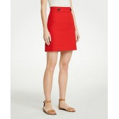 Button Tab A-Line Skirt